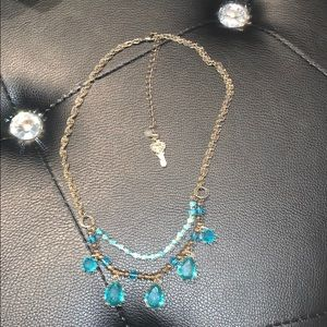 Betsey Johnson vintage(?) necklace w/blue crystals